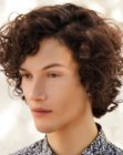 corte masculino – hairstyle with curls